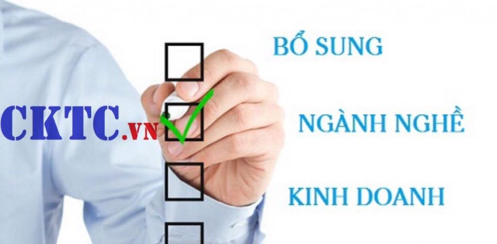 Bổ sung ngành nghề kinh doanh công ty Huy Hoàng